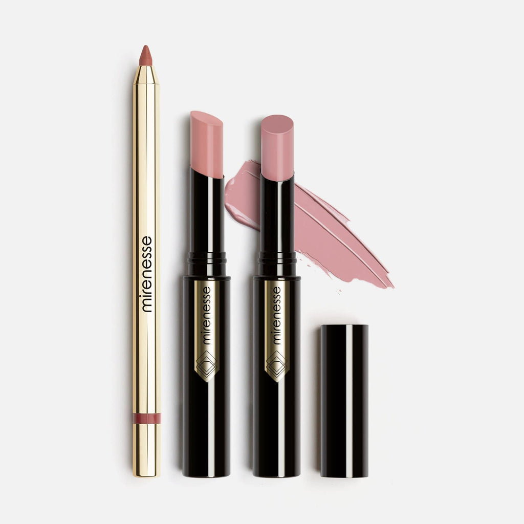 French Nude Lip Kit Glossy -3pce