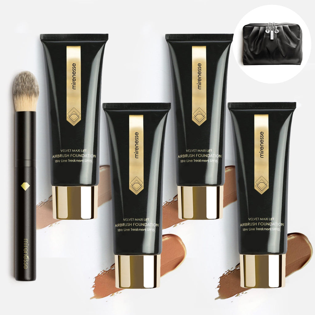 PR KIT - VELVET MAXI LIFT AIRBRUSH FOUNDATION 18HR LINE TREATMENT SPF15-6PCE-  MED TO DARK