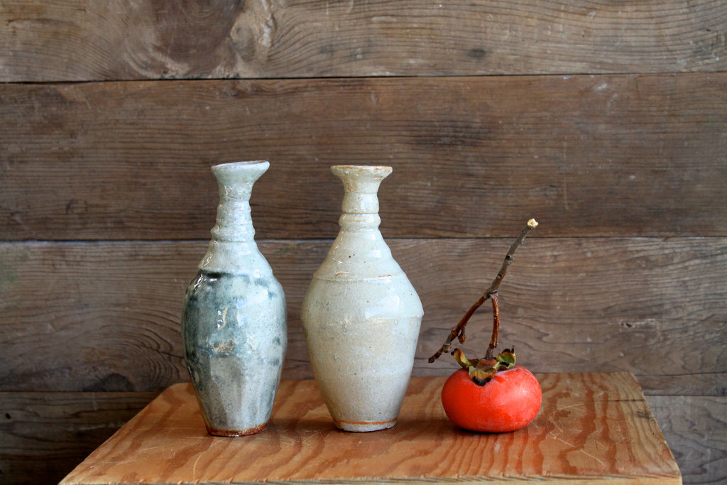 Two small Shino vases