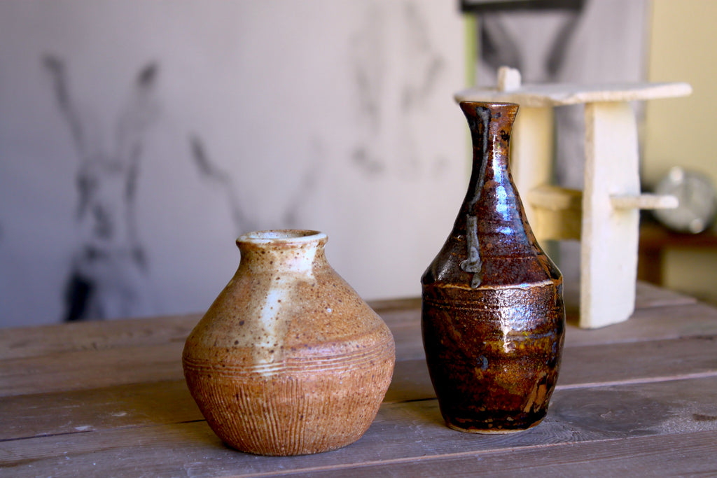 Unmatched Reduction-Fired vases