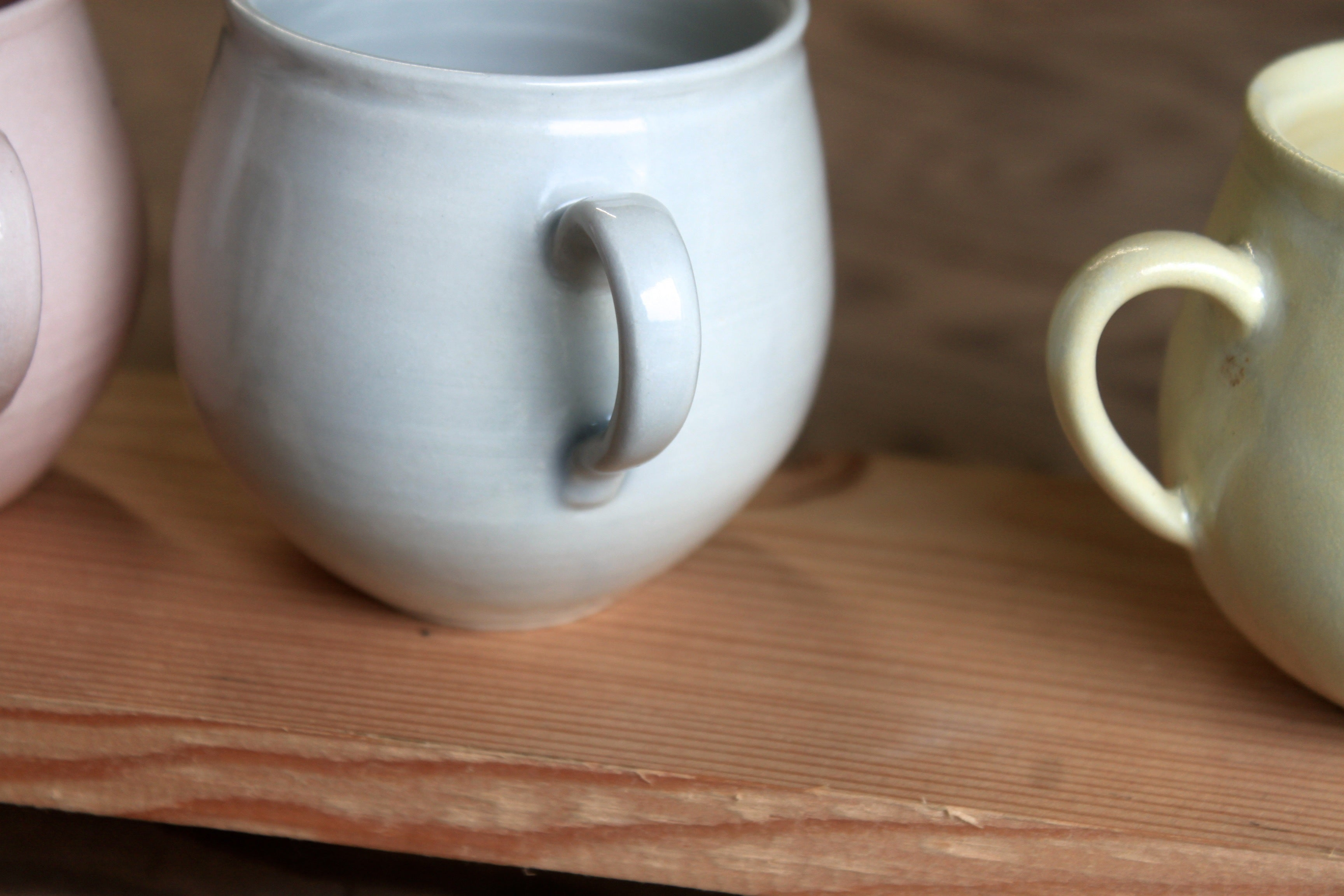 Porcelain Midfire belly cups