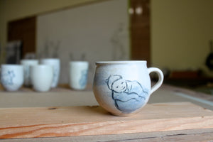 Sisters Ceramics signature wheel thrown custom baby cup