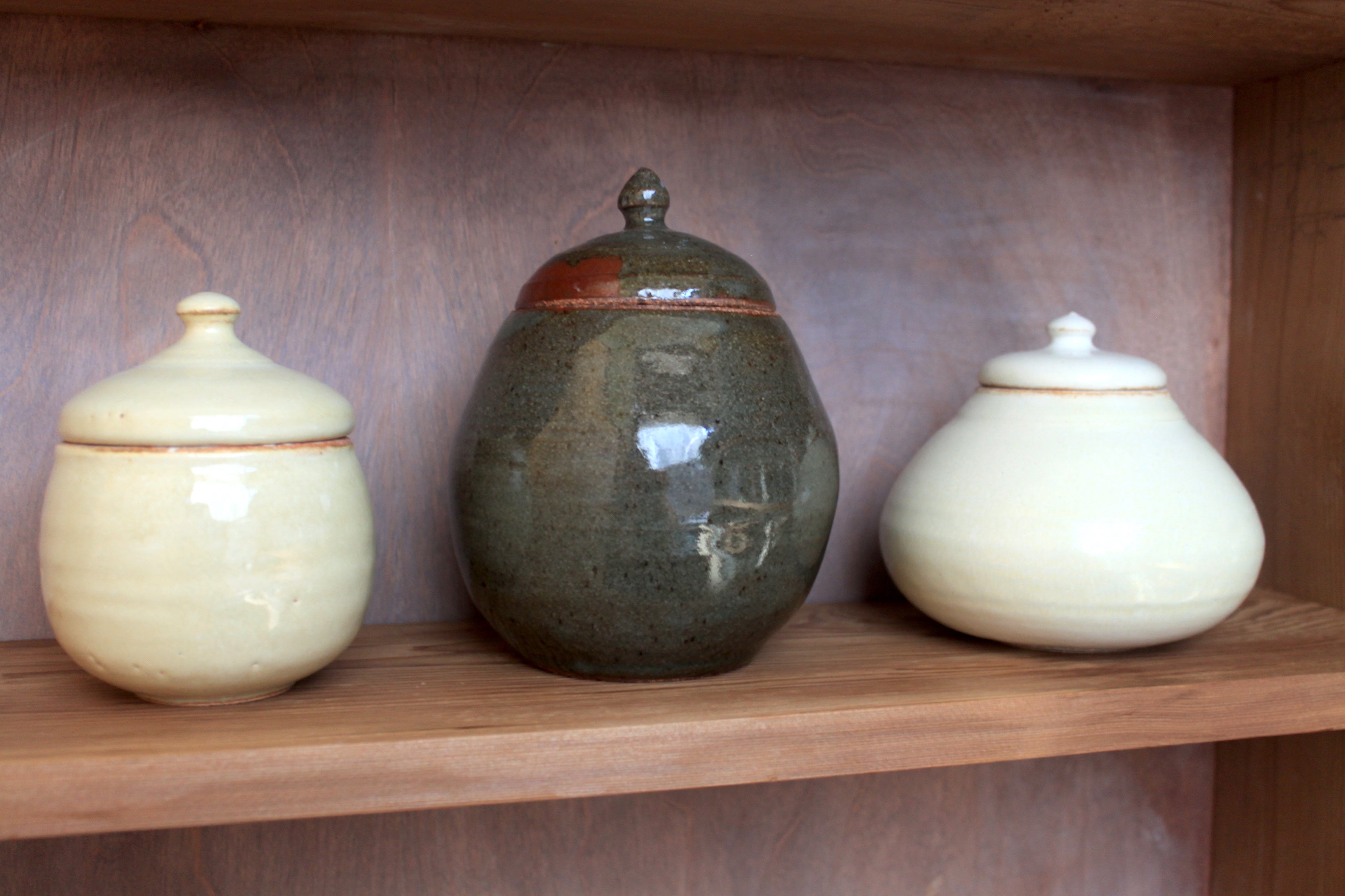 Sisters Ceramics high-fire stoneware jars