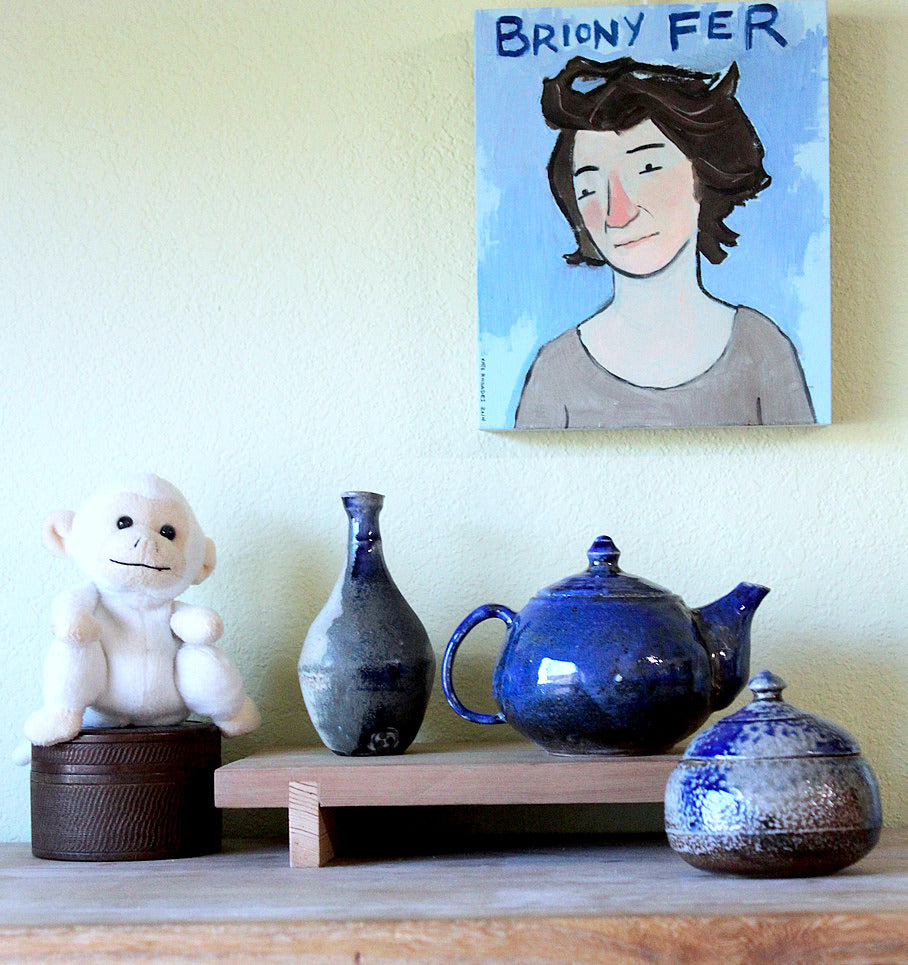 Sisters Ceramics signature cobalt glazed vase, teapot, jar. and soda-fired