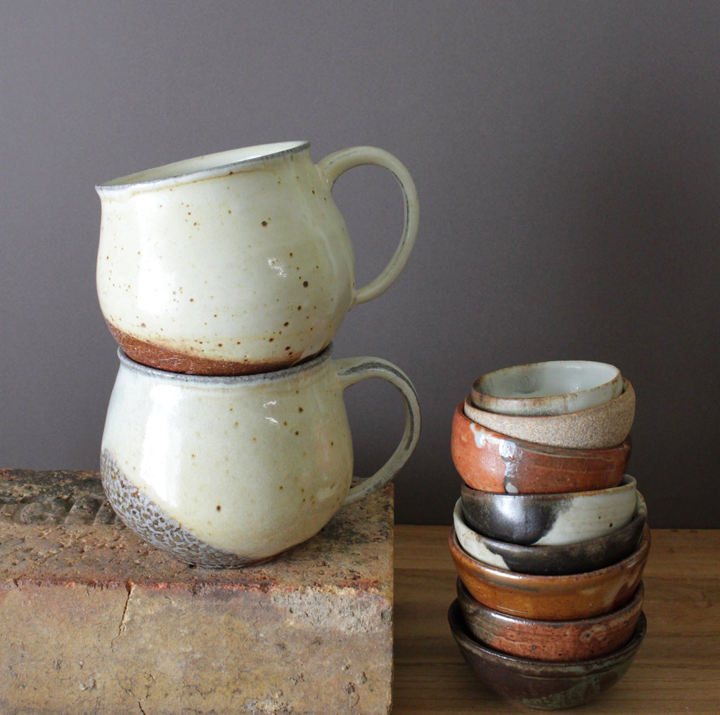 Porcelain and Stoneware Reduction Belly Cups