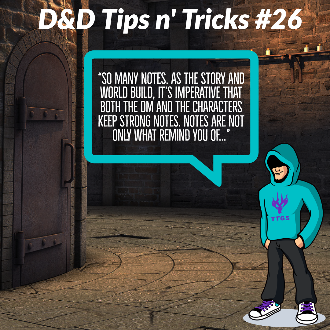 D&D Tips n Tricks #26 | The power is in the notes