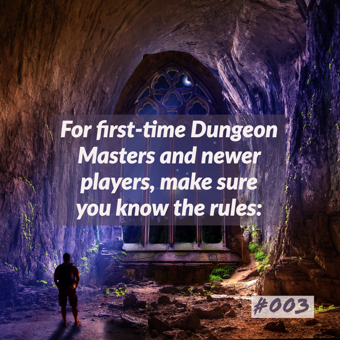 D&D Tips n Tricks #3 | As a new Dungeon Master, know the basics