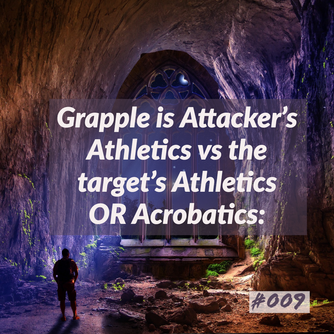 D&D Tips n Tricks #9 | Grapple is Attacker's Athletics vs the target's Athletics