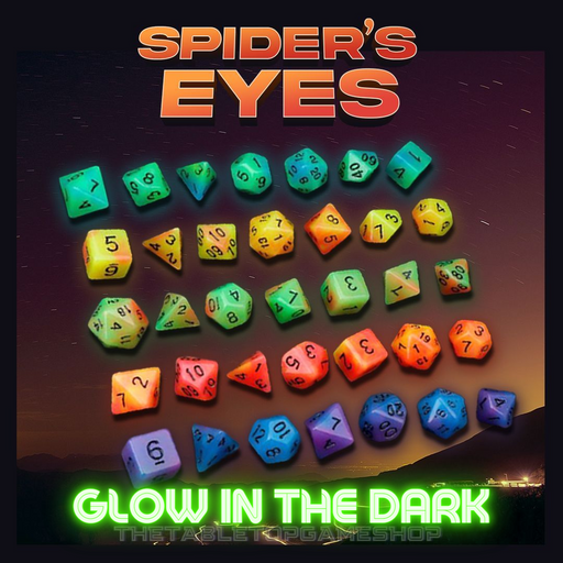 Spider's Eyes Acrylic DnD Dice