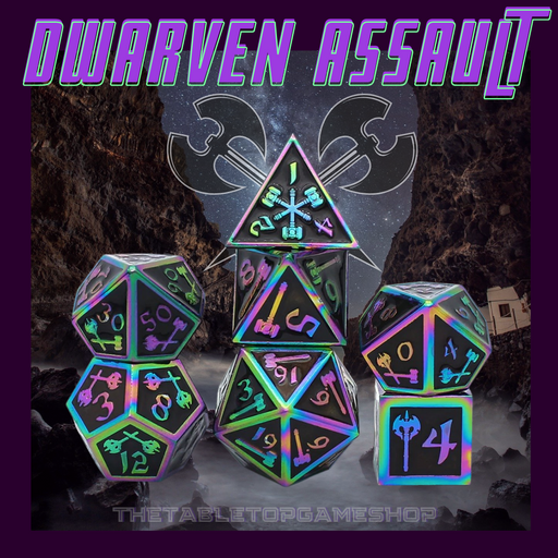 Dwarven Assault - Metal RPG Dice Set