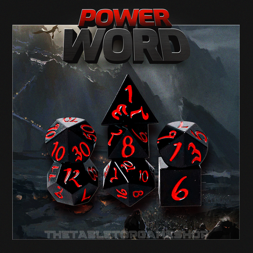 Power Word - Metal RPG Dice Set