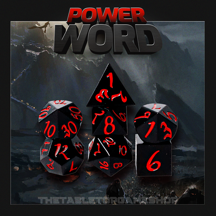 Power Word - Metal Dnd Dice Set