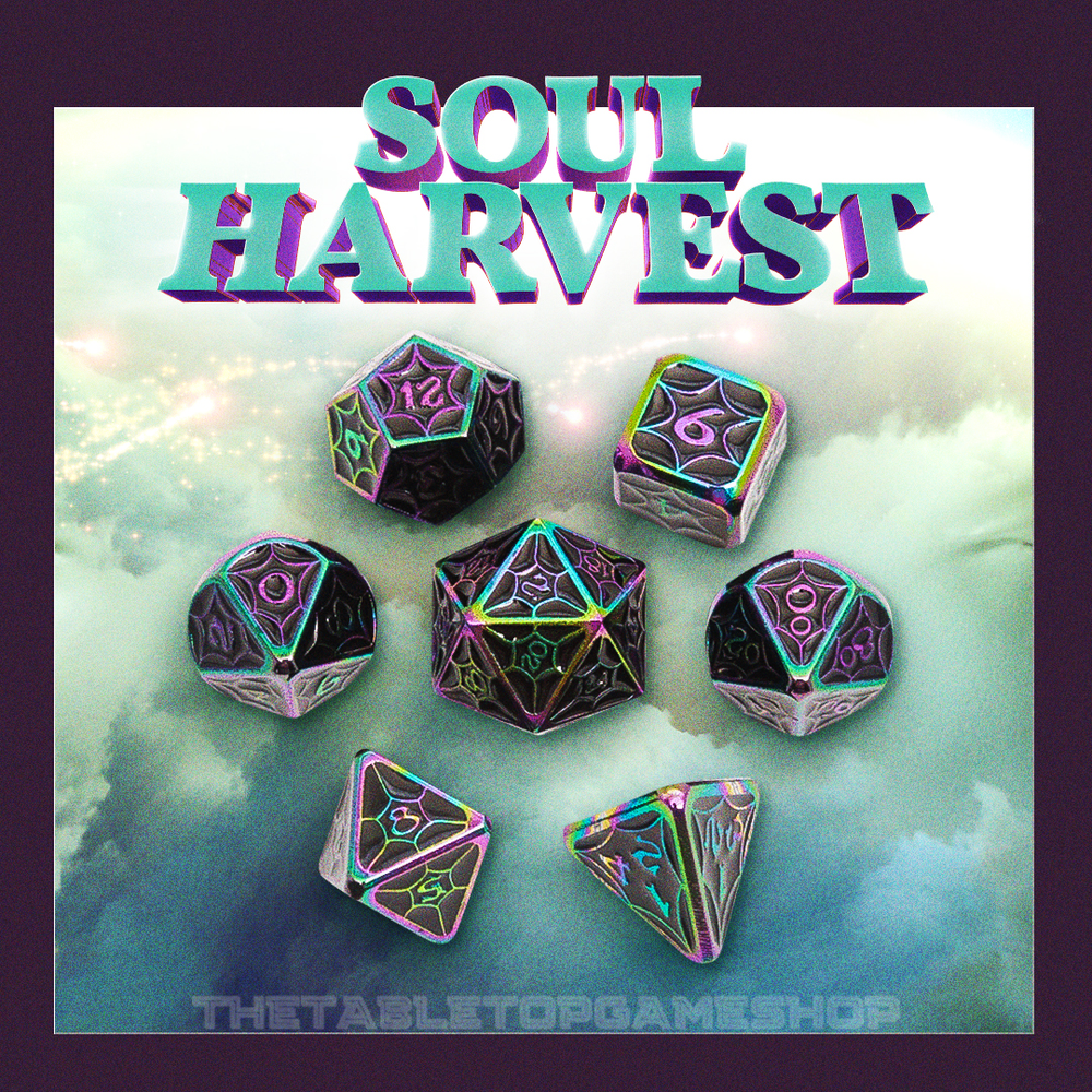 Soul Harvest - Metal RPG Dice Set
