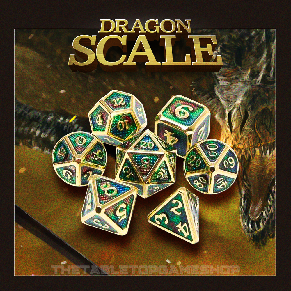 Dragon Scale - Metal Dnd Dice Set