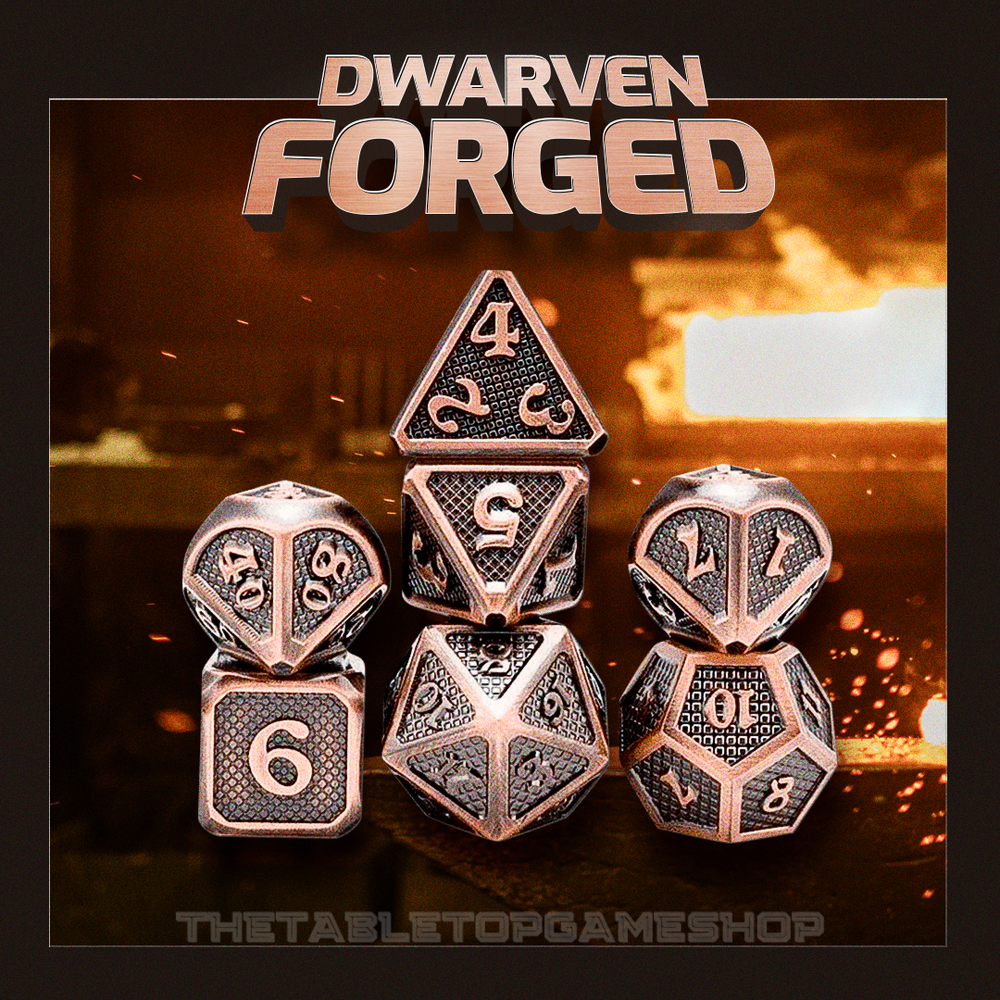 Dwarven Forged - Metal Dnd Dice Set