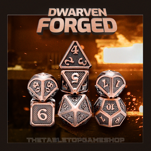 Dwarven Forged - Metal RPG Dice Set