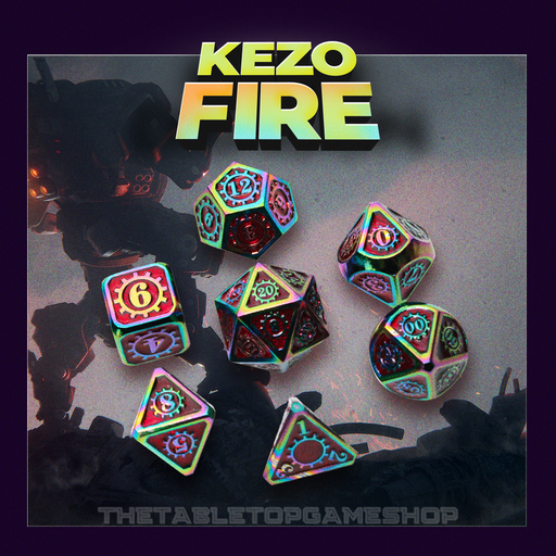 Kezo Fire - Metal Dnd Dice Set