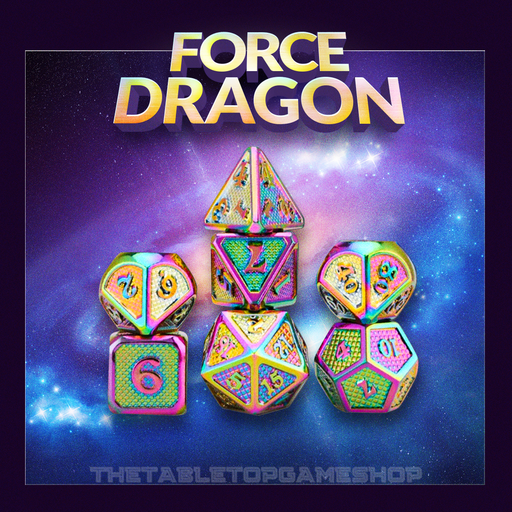 Force Dragon - Metal Dnd Dice Set