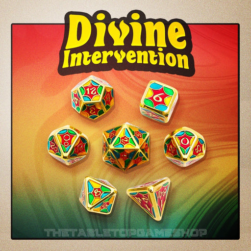 Divine Intervention - Metal RPG Dice Set