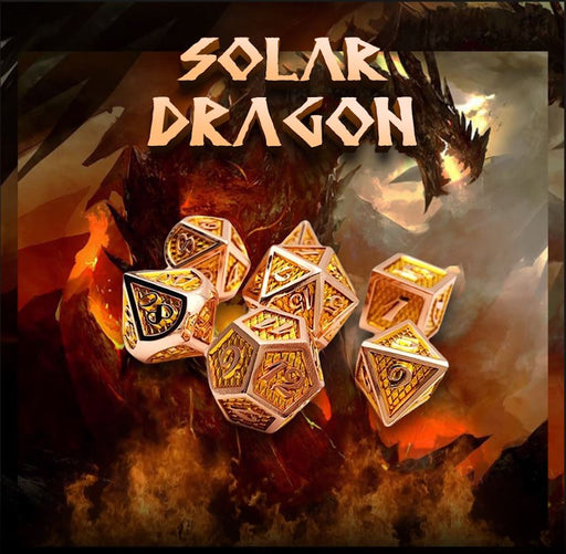 Solar Dragon Dice Metal Dnd Dice Set