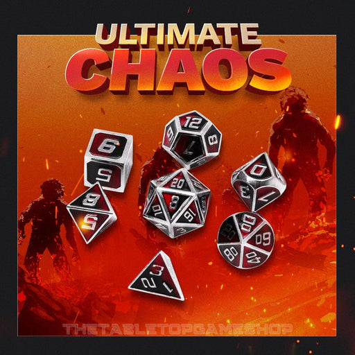 Ultimate Chaos - Metal RPG Dice Set
