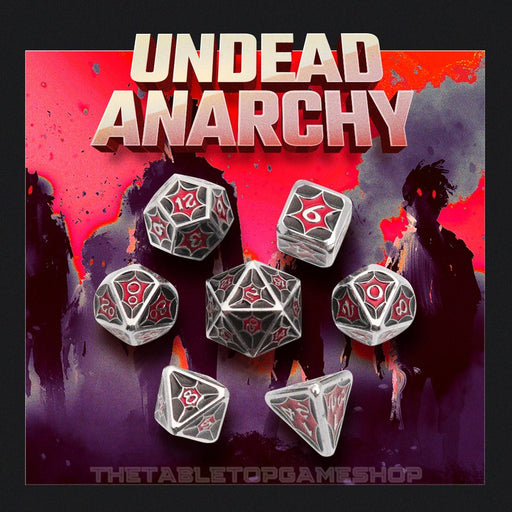 Undead Anarchy - Metal RPG Dice Set