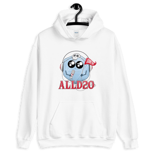 D&D White Hoodie - ALLD20 Podcast Chibi