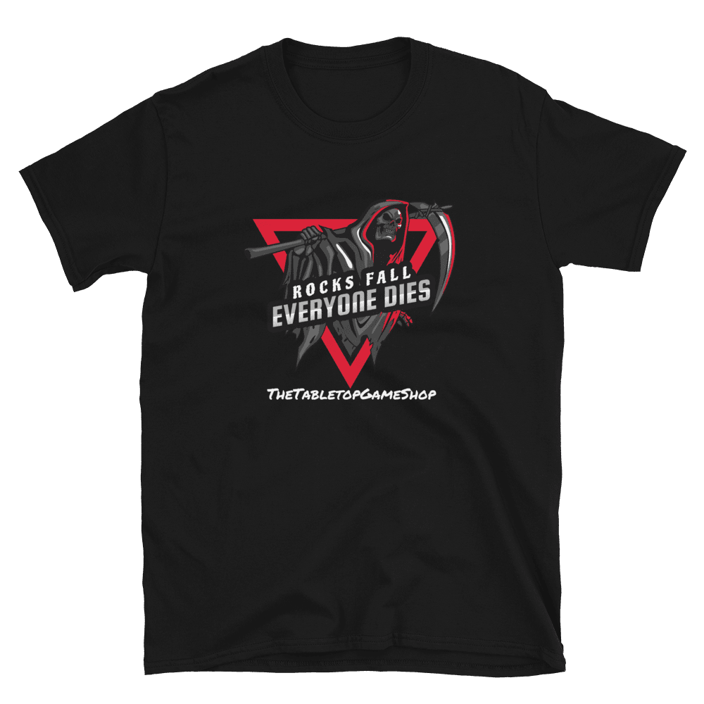 Rocks Fall Everyone Dies - Black D&D T-shirt