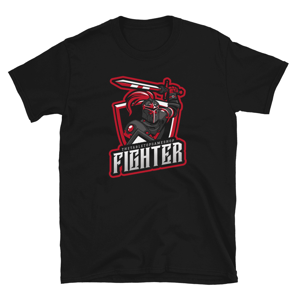 D&D Black T-shirt - Fighter
