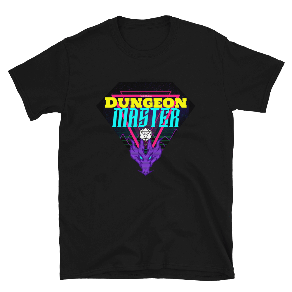 80's D&D Retro Dungeon Master T-Shirt - Black