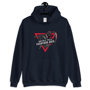 D&D Hoodie Navy - Rocks fall, everyone dies