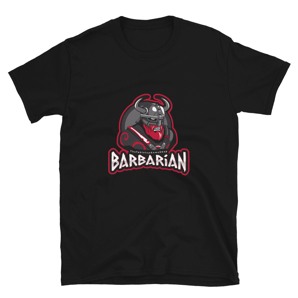 D&D Black T-shirt - Barbarian