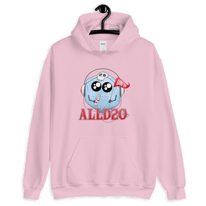 D&D Pink Hoodie - ALLD20 Podcast Chibi