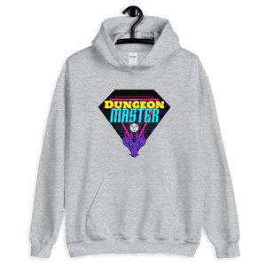 D&D Light Gray Hoodie - Retro 80's Dungeon Master