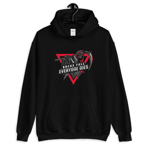 D&D Hoodie Black - Rocks fall, everyone dies