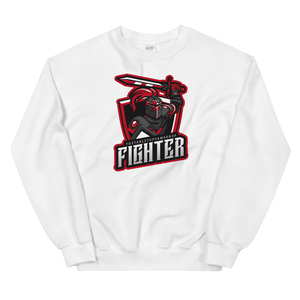 D&D White Crewneck - Fighter