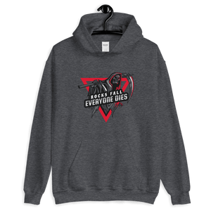 D&D Hoodie Dark Gray - Rocks fall, everyone dies