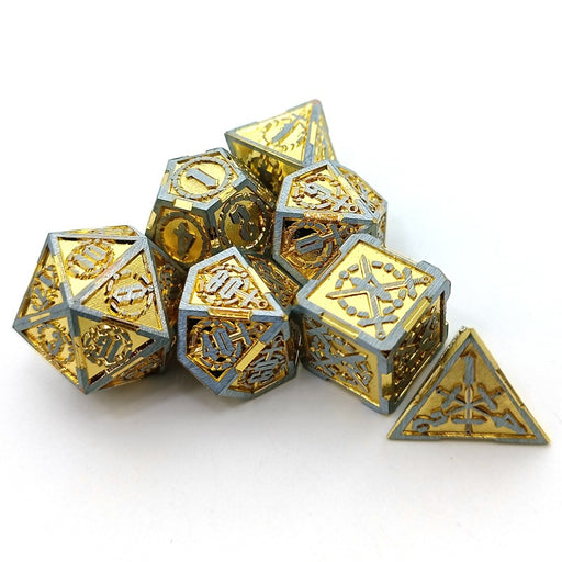 Chrono Shards - Metal DnD Dice Set