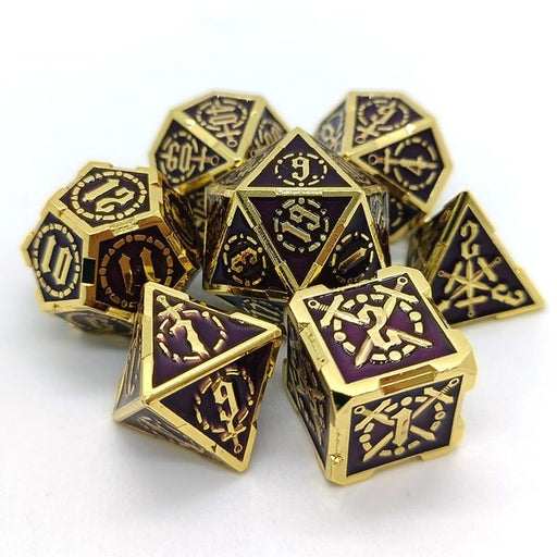 Berserker's Gold - Metal DnD Dice Set