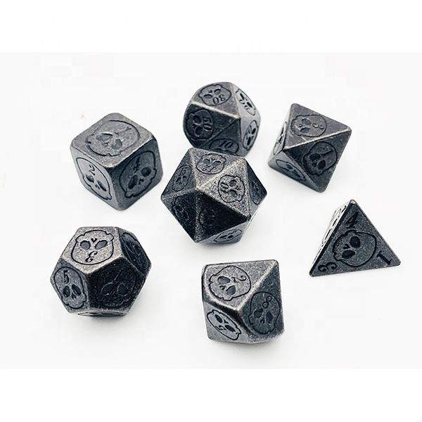 Bottomless Grave Dice  - Metal DnD Dice Set