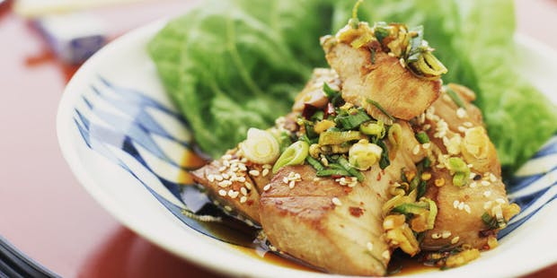 Barramundi Fillets with Soy and Ginger Sauce