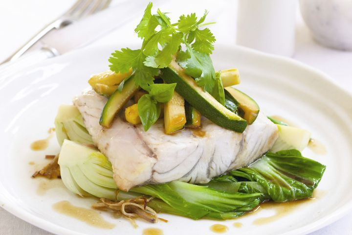 Barramundi Parcels with Zucchini and Squash