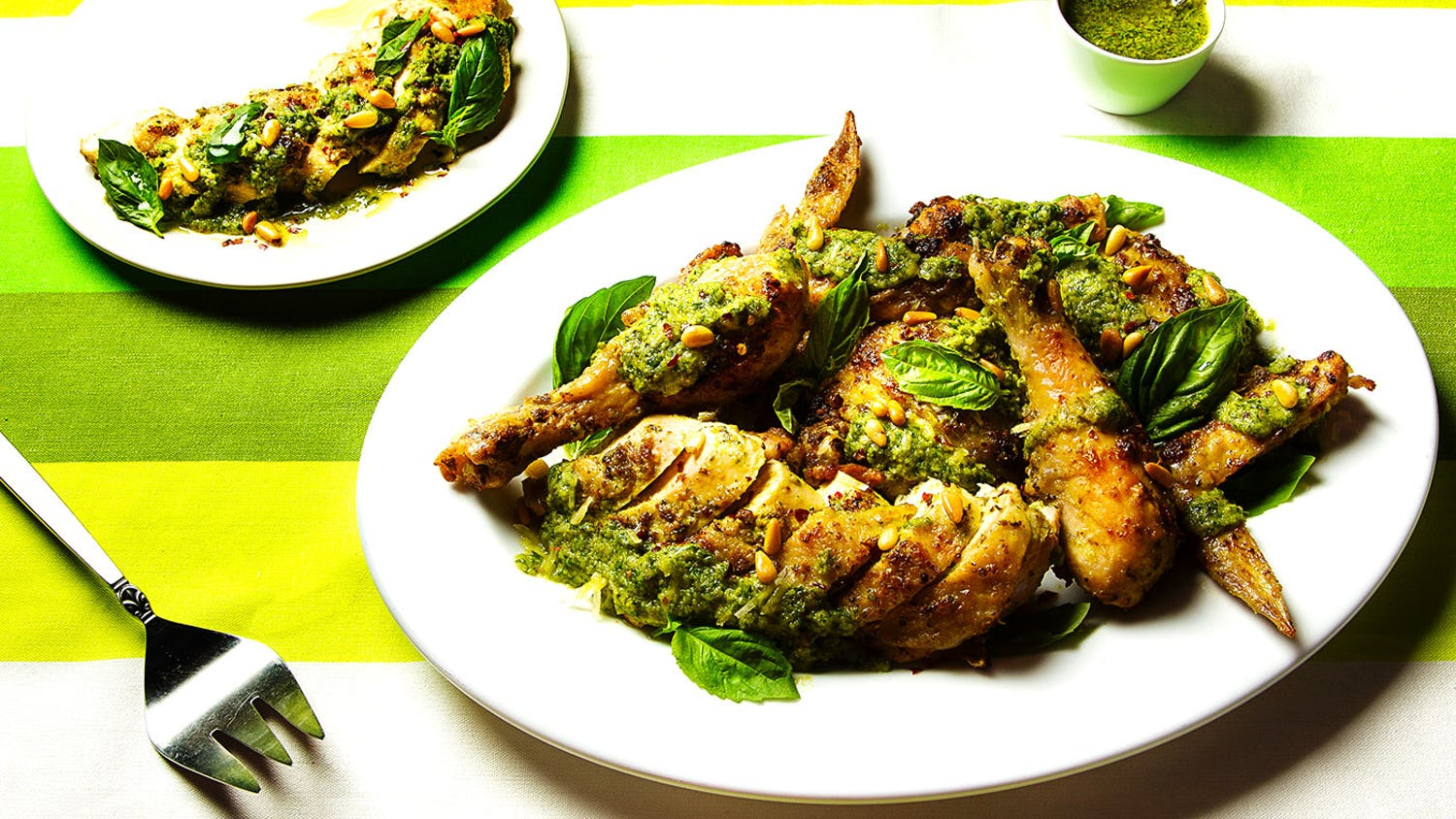 Chicken Genovese (Pesto-Roasted Chicken)