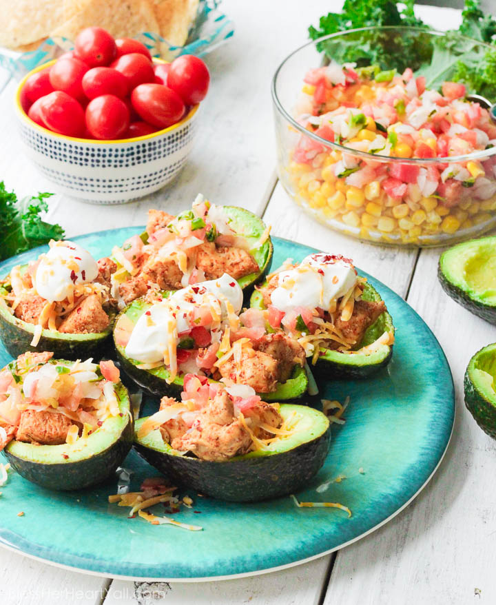 Chicken Taco Avocado Boats