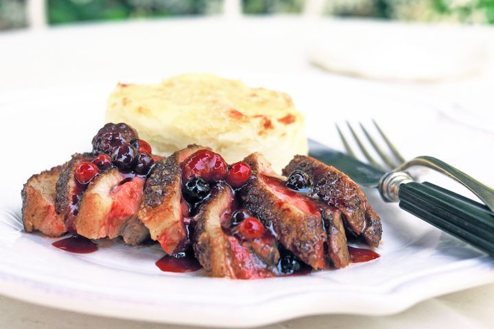 Duck Breasts with Berries