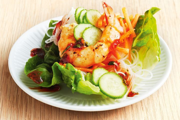 Garlic Prawn Lettuce Cups