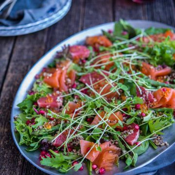 Huon Smoked Salmon, Pomegranate and Quinoa Salad