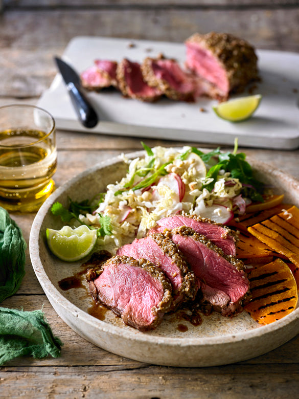 Korean-Style Lamb Mini Roasts with Pear Salad