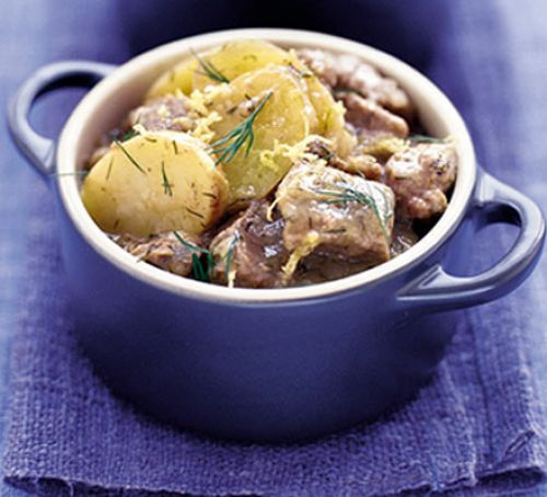 Lamb with Lemon & Dill