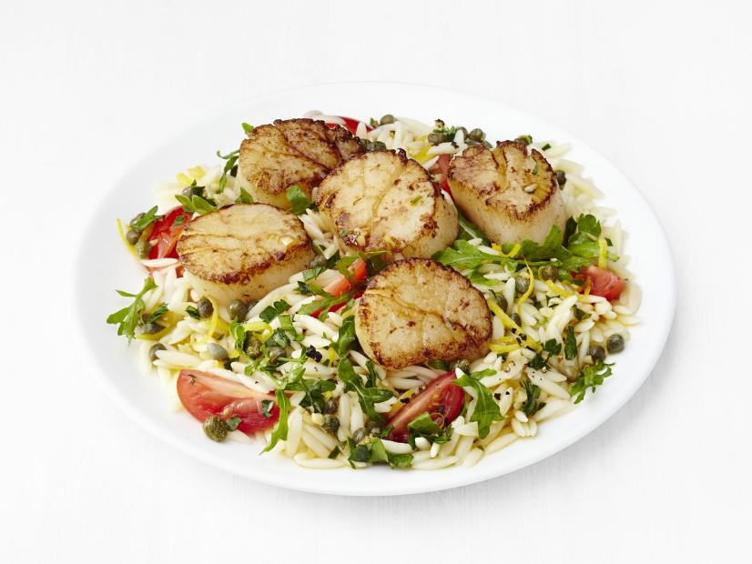 Lemon Orzo with Scallops